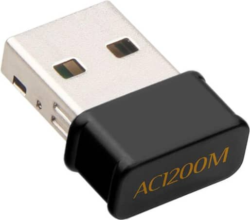 Bakeey Mini USB WiFi Adapter 802.11AC Dongle Network Card 1200Mbps 2.4G & 5G Dual Band Wireless Wifi Receiver for Laptop
