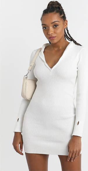 Showpo Malone Dress in White - 8 (S) Casual Outfits