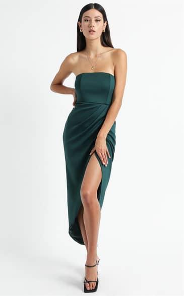 Showpo Already Home Dress in emerald - 16 (XXL) Dresses