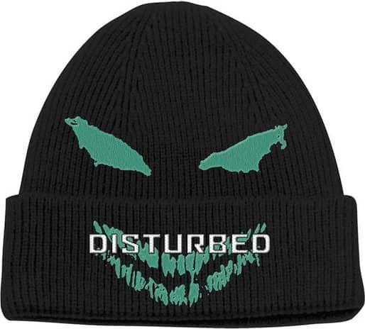 Disturbed - Green Face Unisex Beanie Hat - Black