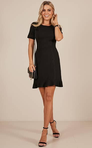 Showpo Happy and Free Dress in black - 14 (XL) Work Dresses size 14