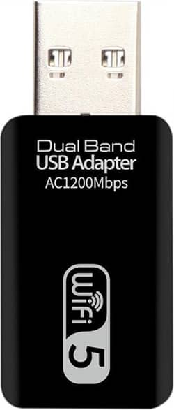AC 1200M USB3.0 Wireless Network Card Gigabit Wifi5 Adapter Dual Band 2.4G 5.8G Ethernet Adapter for Laptop Computer