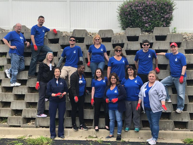 BJC employees spend the day beautifying our Westfield Manor campus.