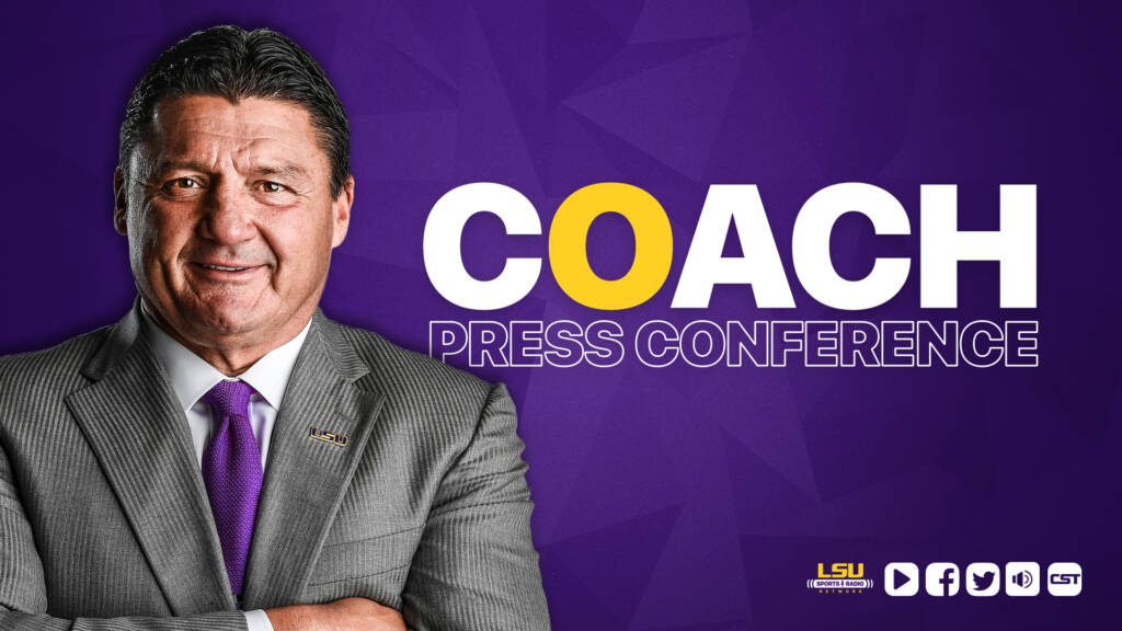 Coach O Press Conference - no partner