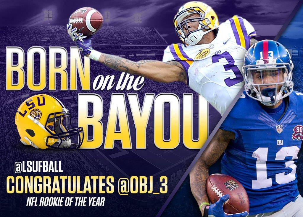 LSU Honors Beckham with Times Square Billboard