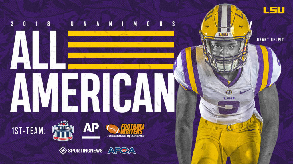 Delpit Becomes LSU's Ninth 'Unanimous' All-American