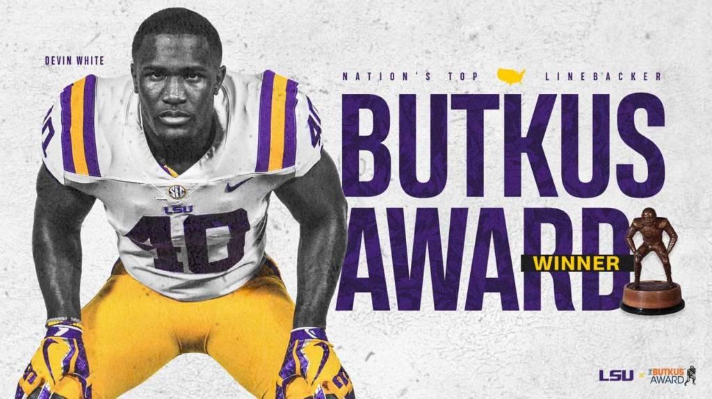 Devin White Named 2018 Butkus Award Winner