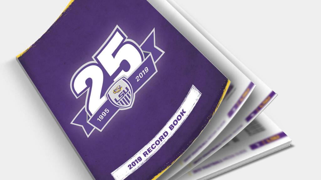 2019 LSU Soccer Record Book Program Cover