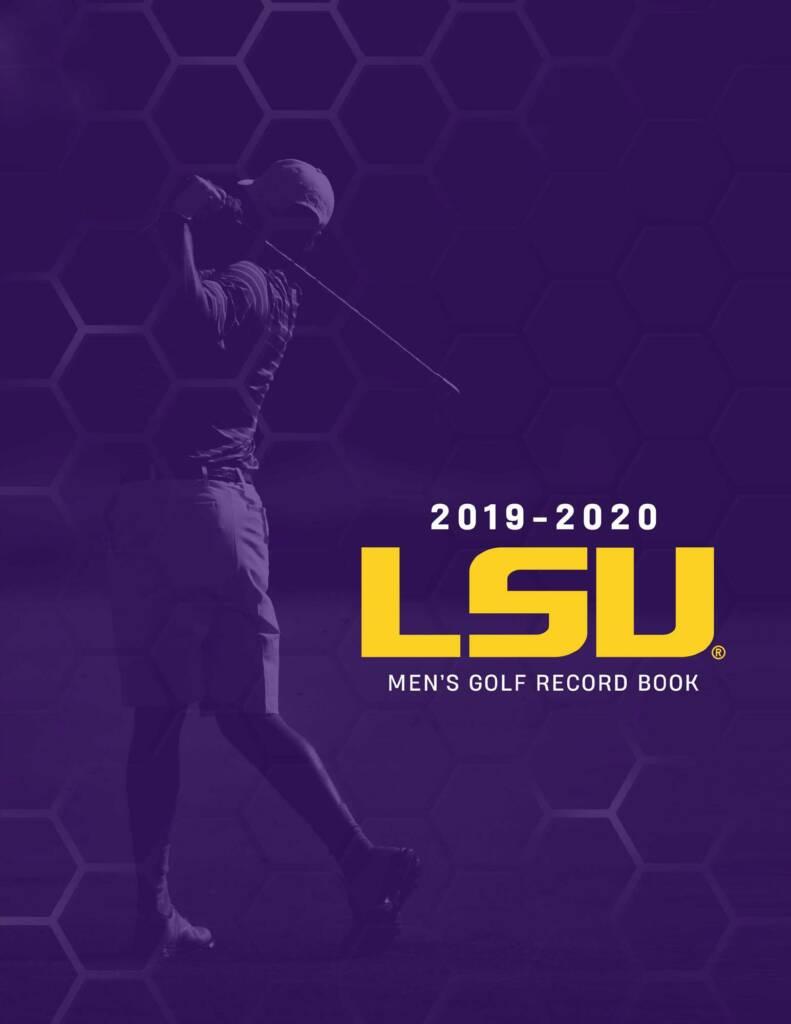 2019-20 LSU Men's Golf Media Guide Cover