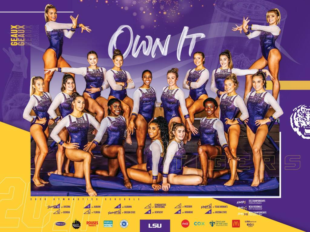 2020 LSU Gymnastics Poster - Front (2-Sided)