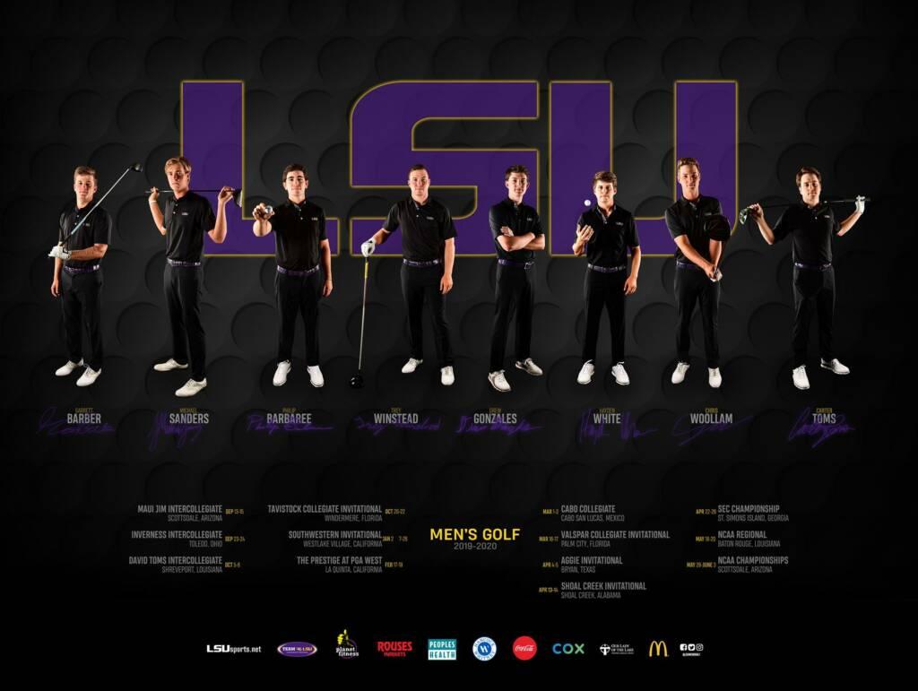 2019-20 LSU Mens Golf Poster