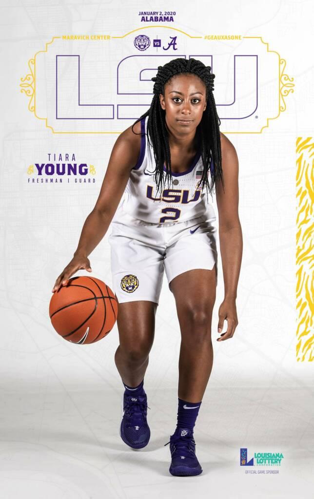 2019-20 LSU Womens Basketball Game Program Cover