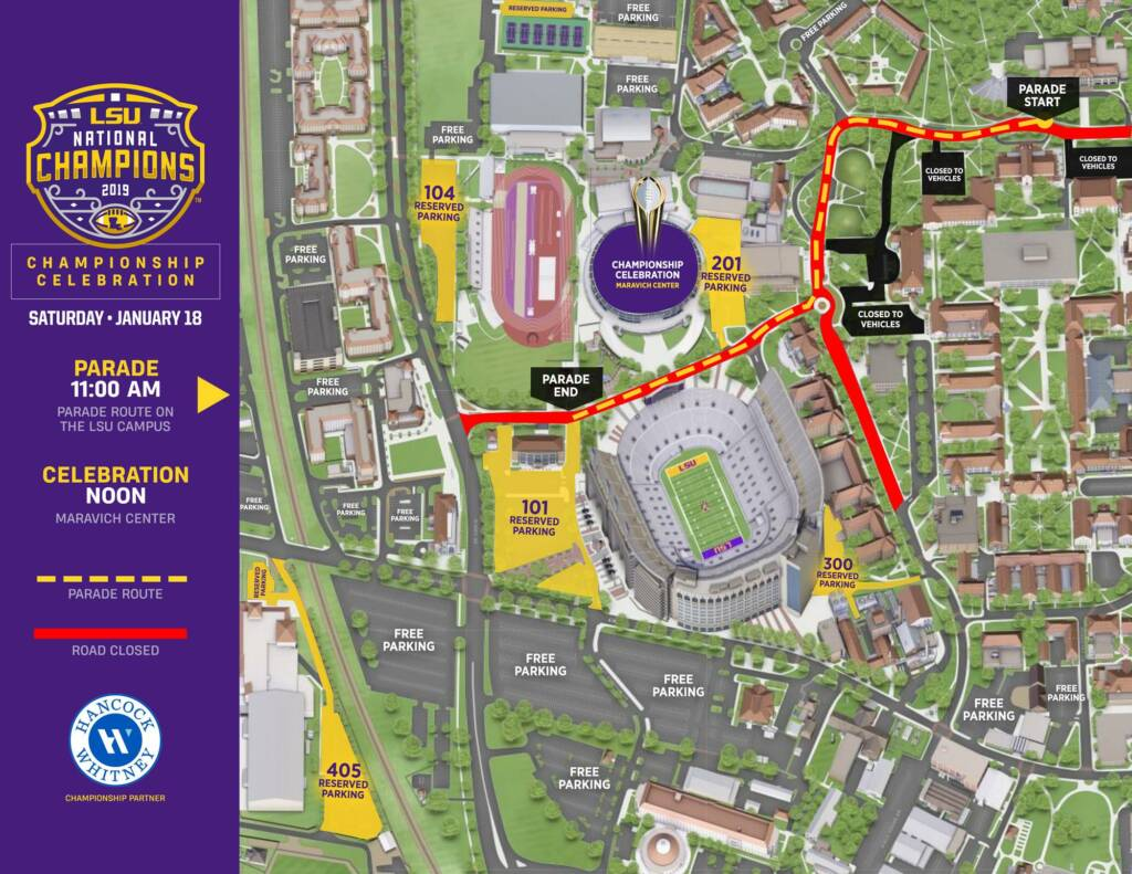 2019 LSU Football National Championship - Parade Route