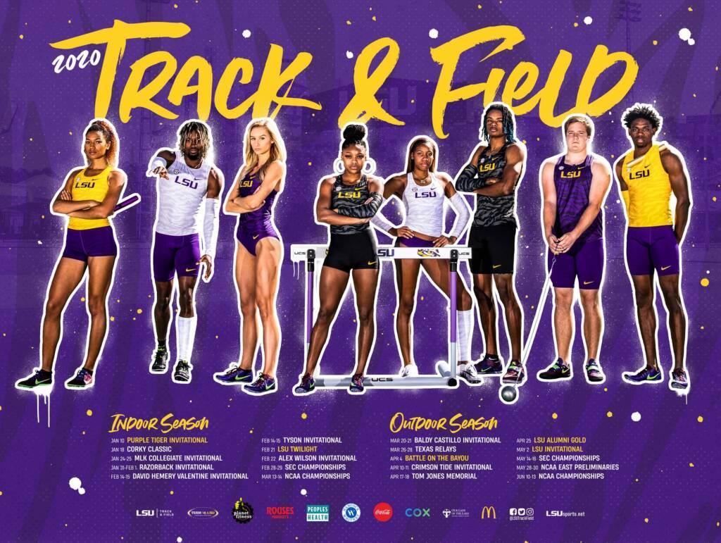 2020 LSU Track & Field Poster
