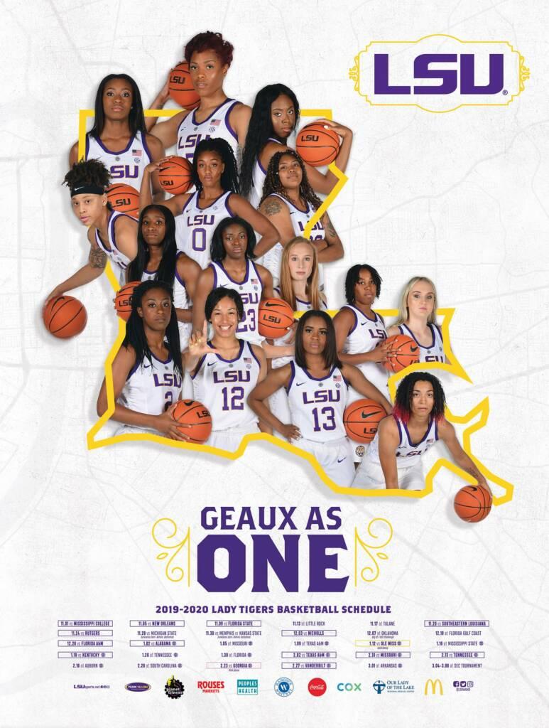 2019-20 LSU Womens Basketball Poster