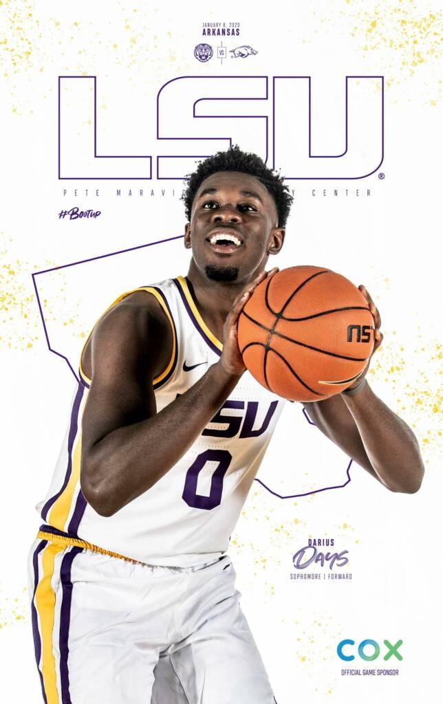 2019-20 LSU Mens Basketball Game Program Cover