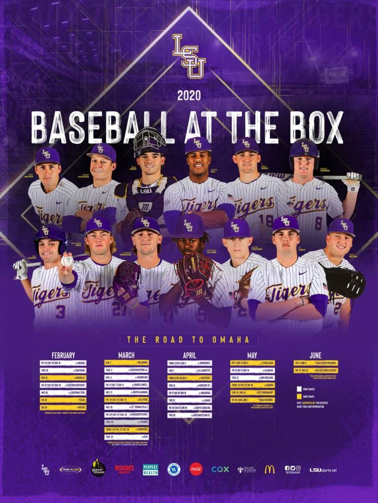 2020 LSU Baseball Posters