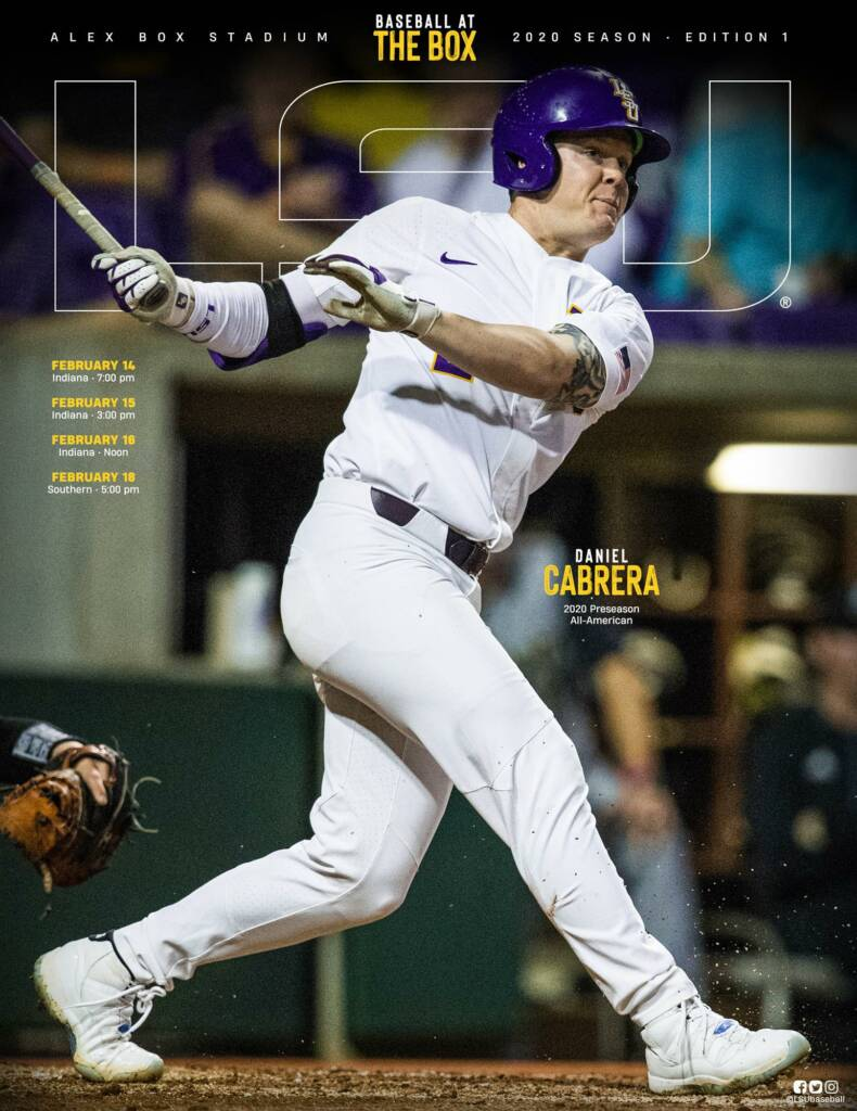 2020 LSU Baseball Game Program Cover