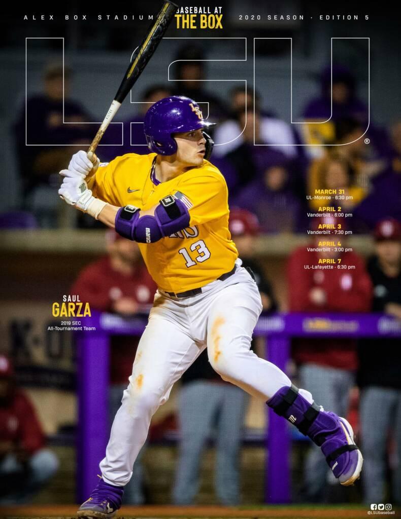 2020 LSU Baseball Game Program Cover - Edition 5