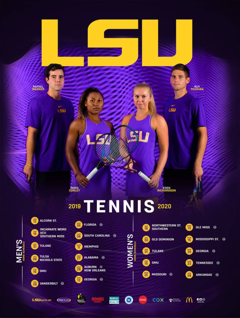 2019-20 LSU Mens and Womens Tennis Poster