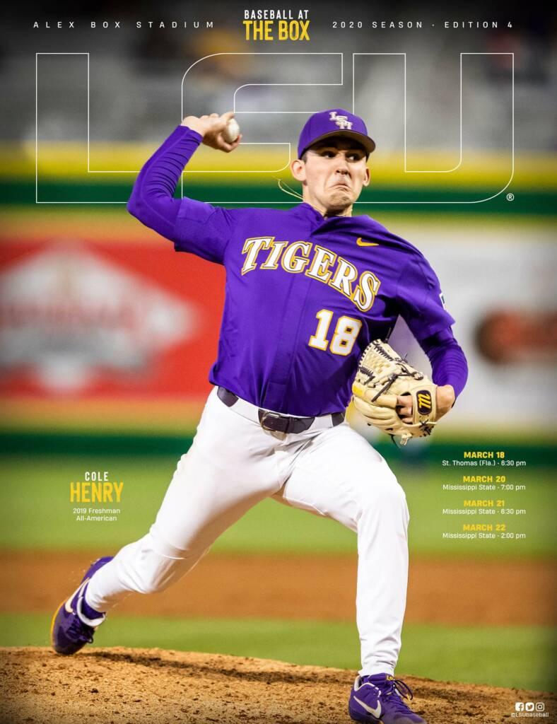 2020 LSU Baseball Game Program Cover - Edition 4