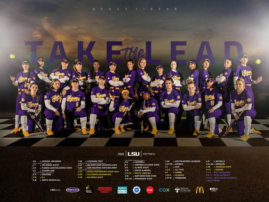 2020 LSU Softball Poster