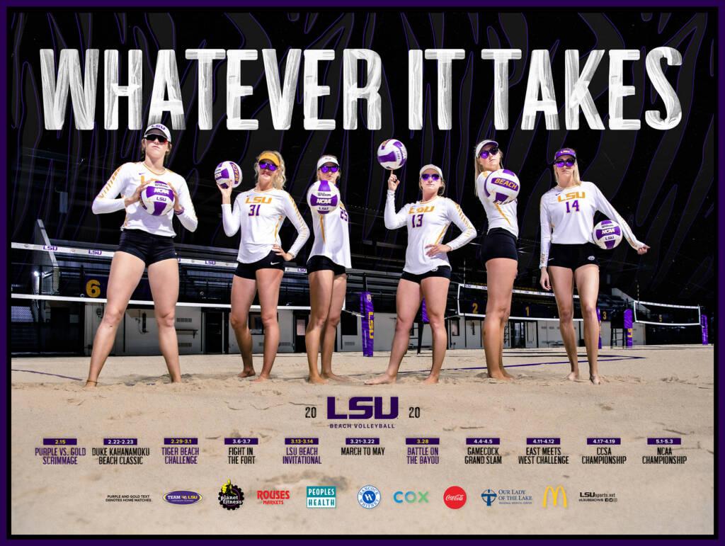 2020 LSU Beach Volleyball Poster