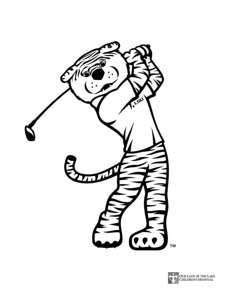 MIke the Tiger Golf - Coloring Sheet