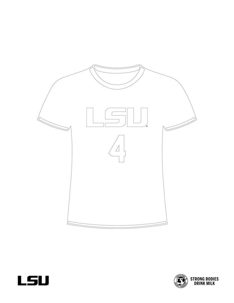 LSU Soccer Jersey Coloring Sheet