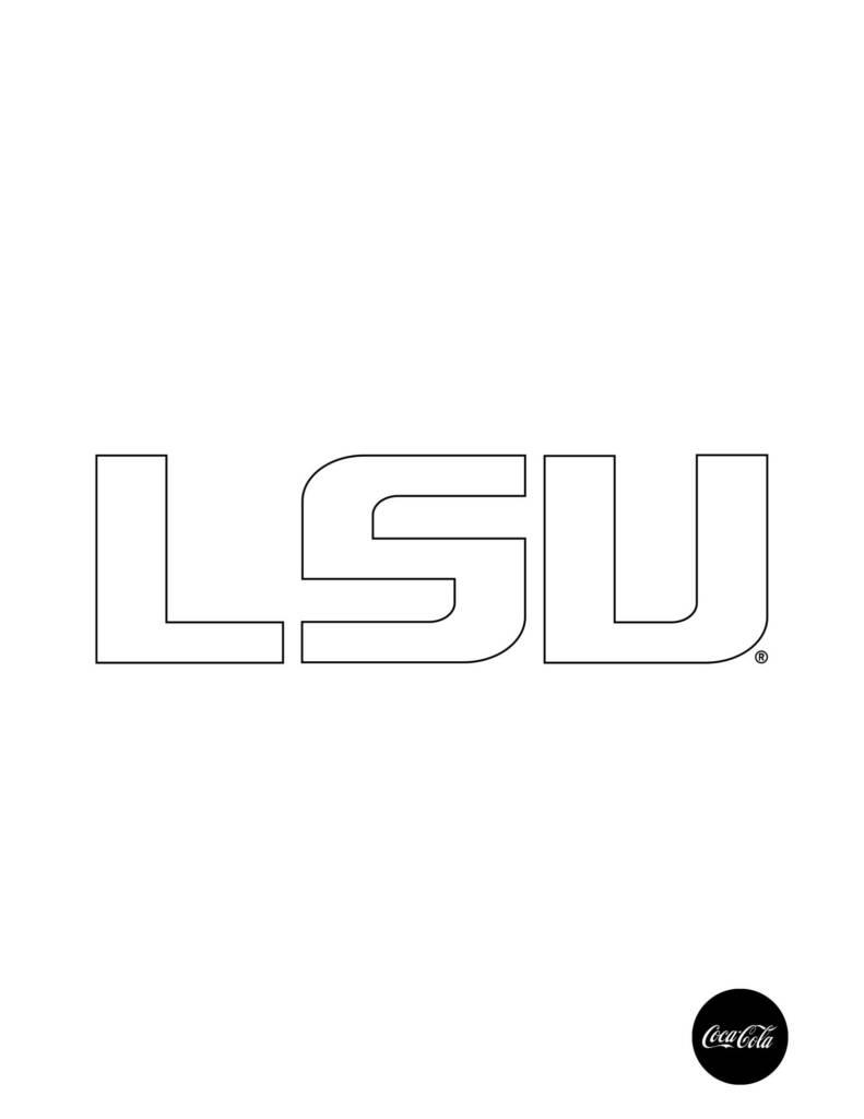 Primary LSU Logo - Coloring Sheet