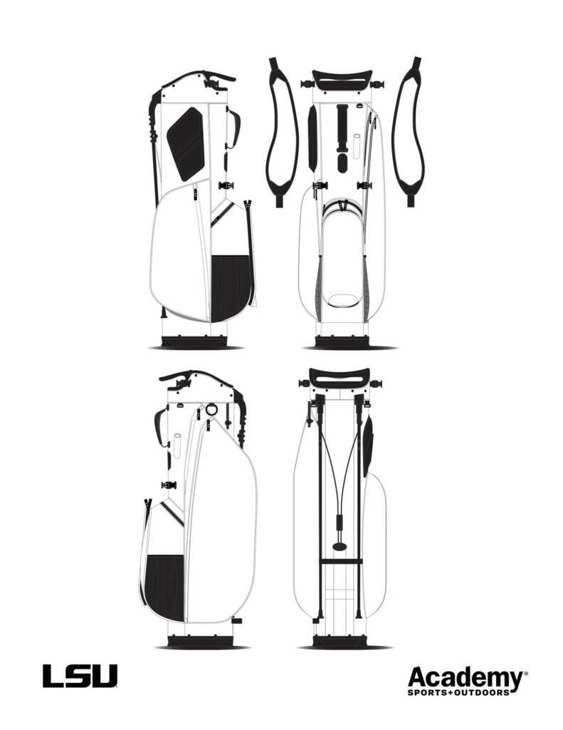 Golf Bags - Coloring Sheet