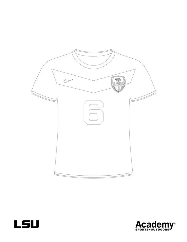 Coloring Sheet - Soccer Jersey - Academy
