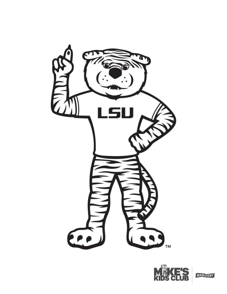 MIke the Tiger - Coloring Sheet