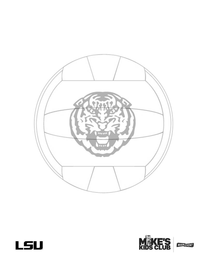 LSU Volleyball Coloring Sheet