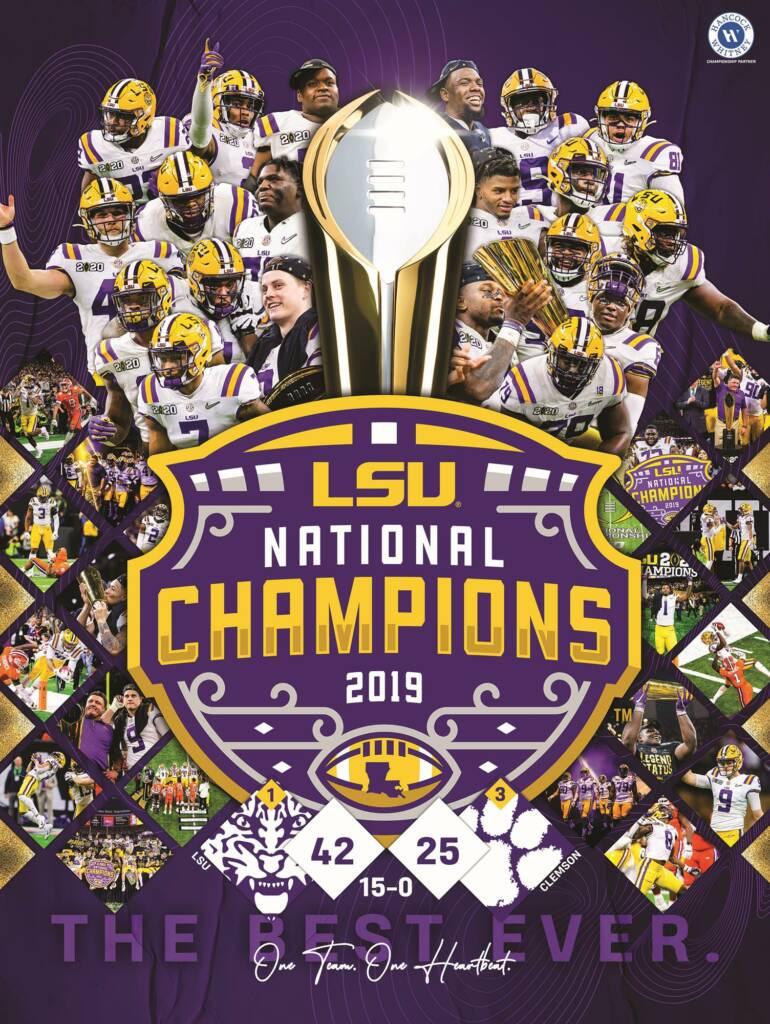 2019 LSU Football National Championship - Poster Hancock Whiteny