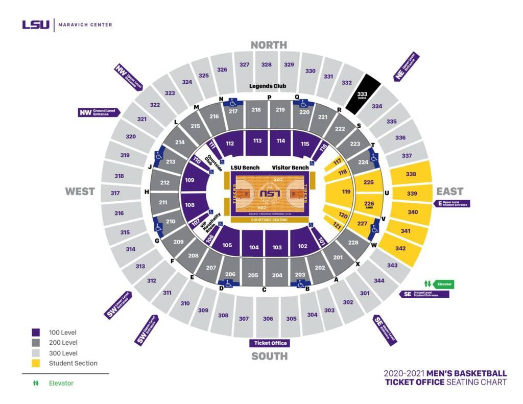 2020-21 Maravich Center Seating Chart - Mens Basketball