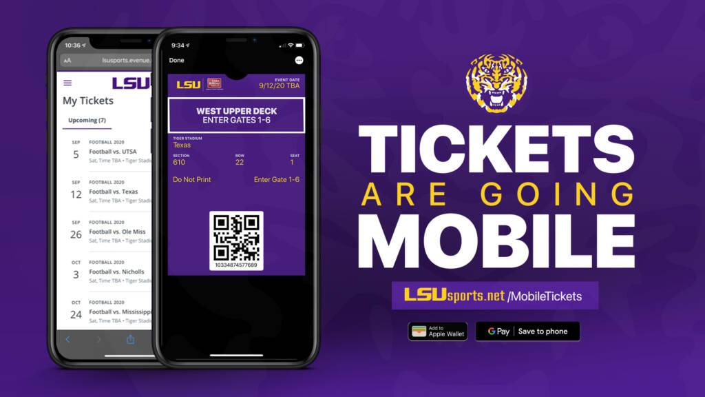 LSUtix.net Mobile Tickets - Digital Tickets Announcement