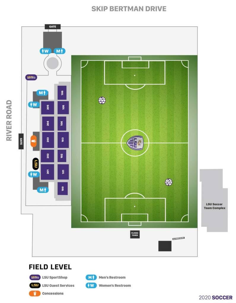 LSU Soccer Stadium - Seating Chart (2020)