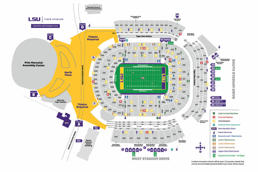 Tiger Stadium Seating Chart - Sept. 22