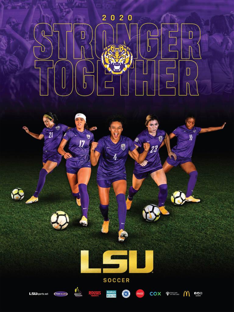 2020 LSU Soccer Poster