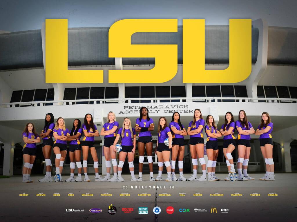 2020 LSU Volleyball Poster
