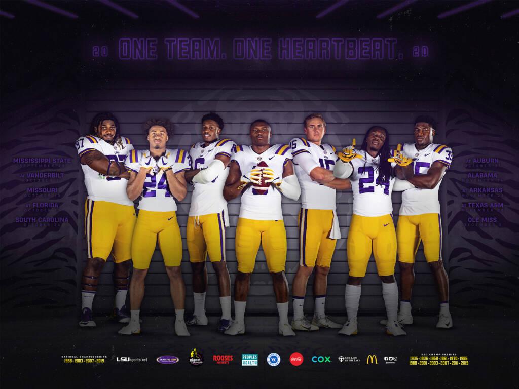 2020 LSU Football Poster