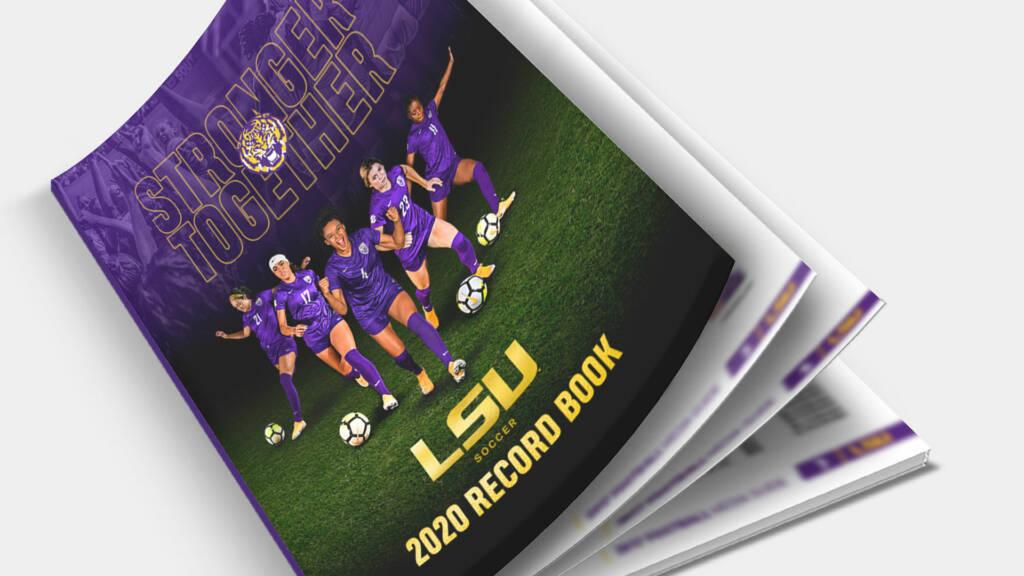 2020 LSU Soccer Record Book - Mockup