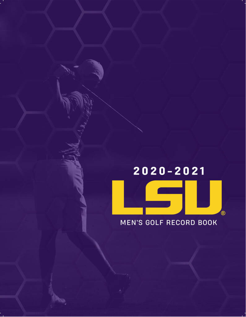 2020-21 LSU Mens Golf Record Book - Cover