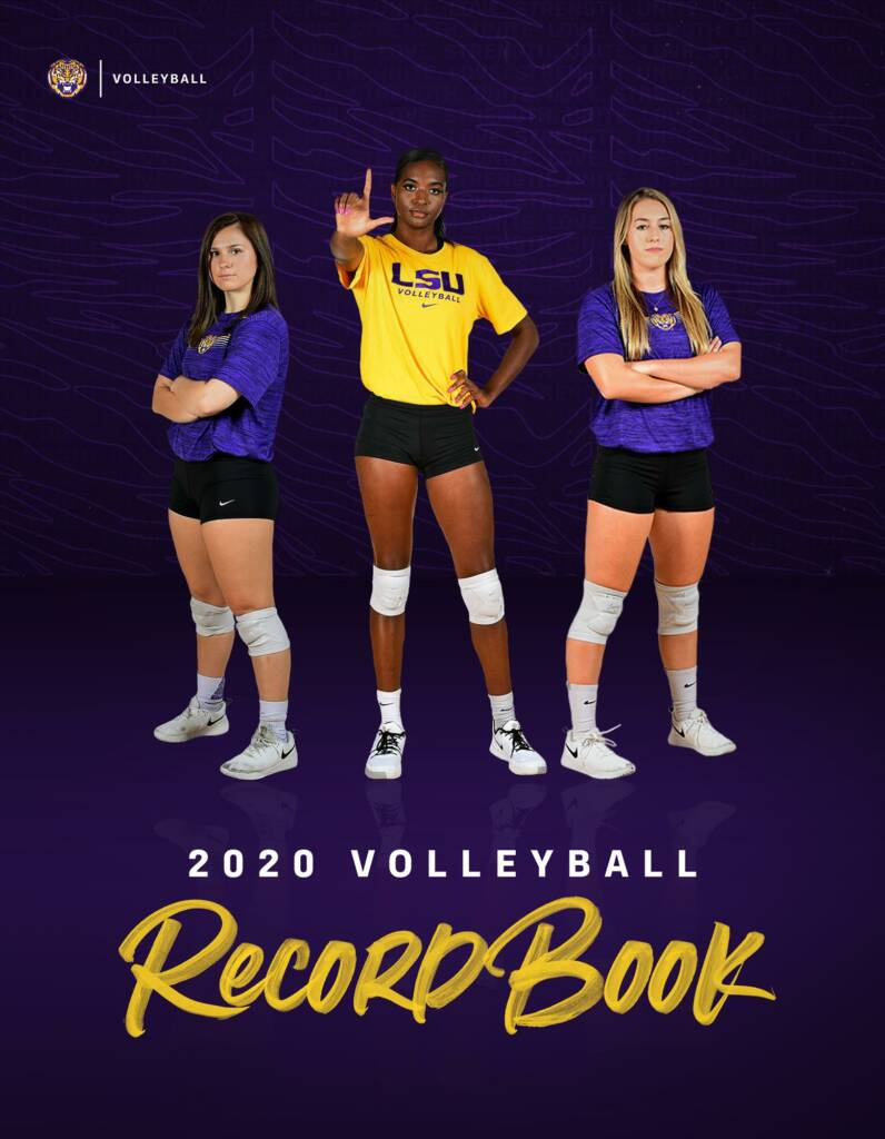2020 LSU Volleyball Record Book -Cover