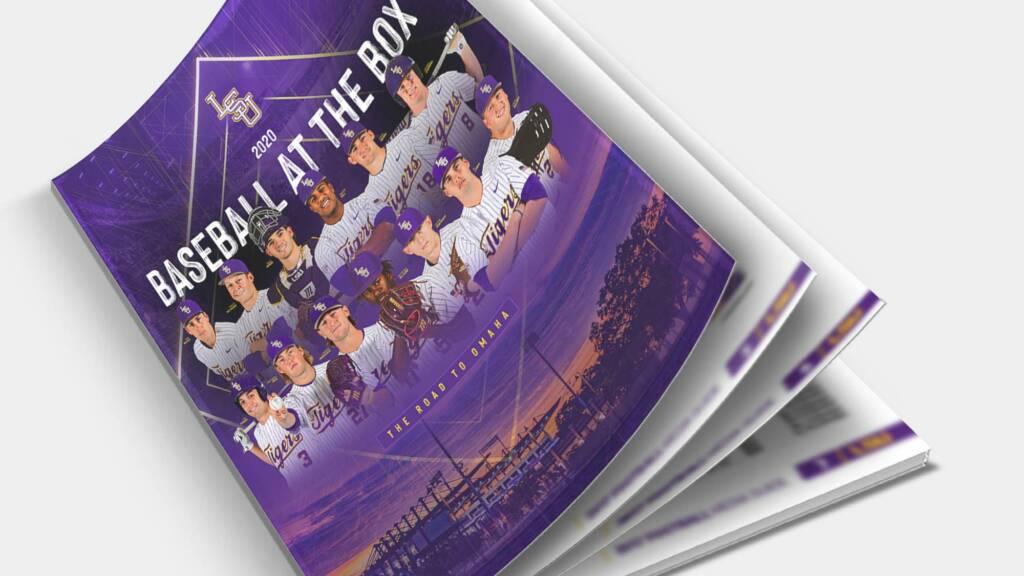 2020 LSU Baseball Media Guide Cover - Mockup