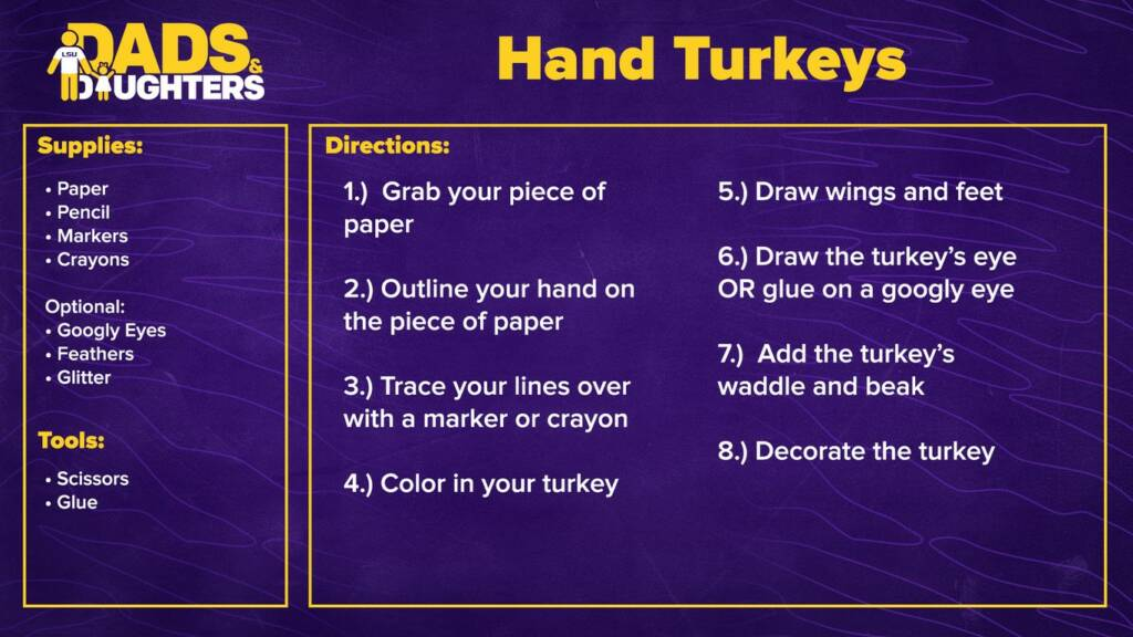 Dads and Daughters - Hand Turkeys