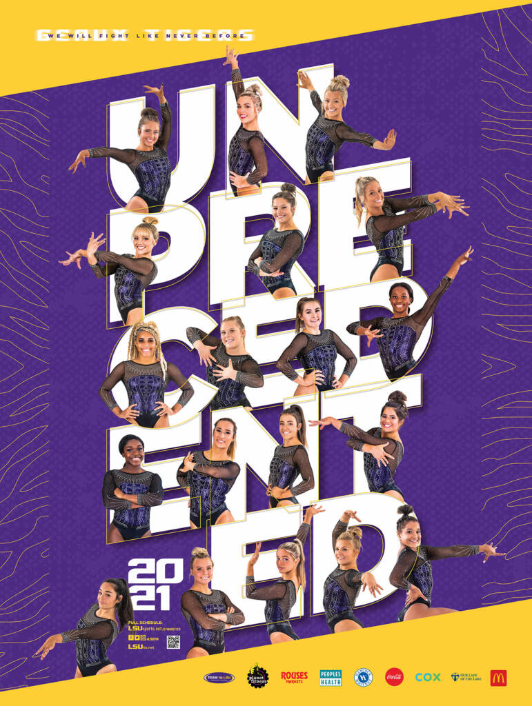 2021 LSU Gymnastics Poster