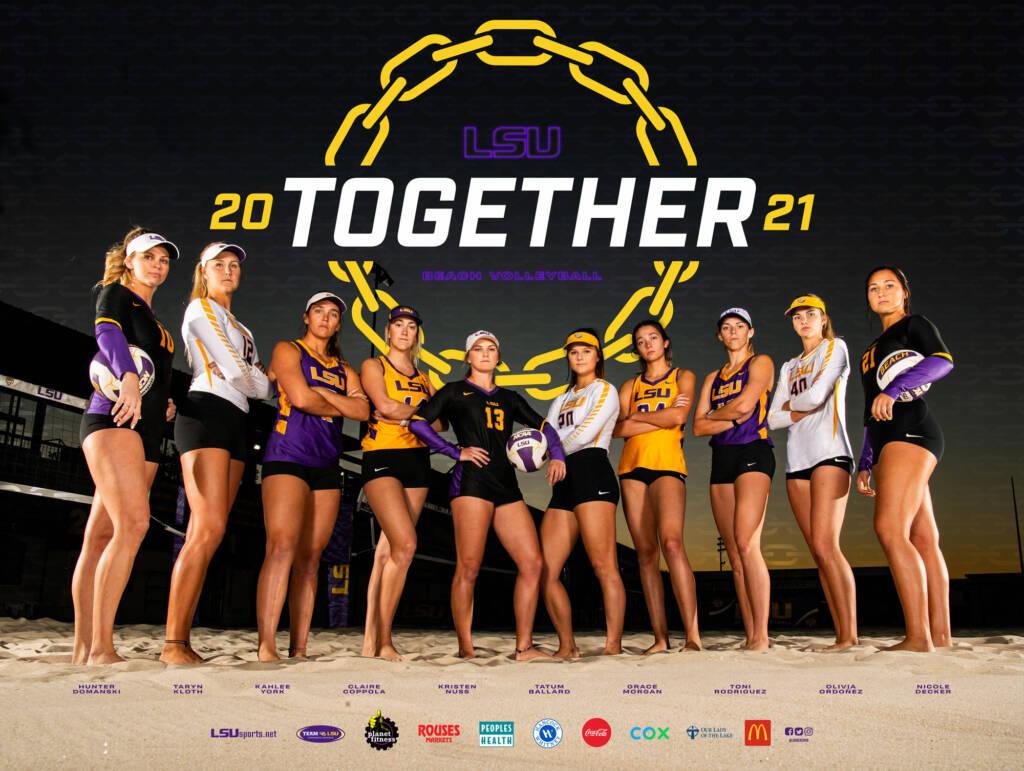 2021 LSU Beach Volleyball Poster