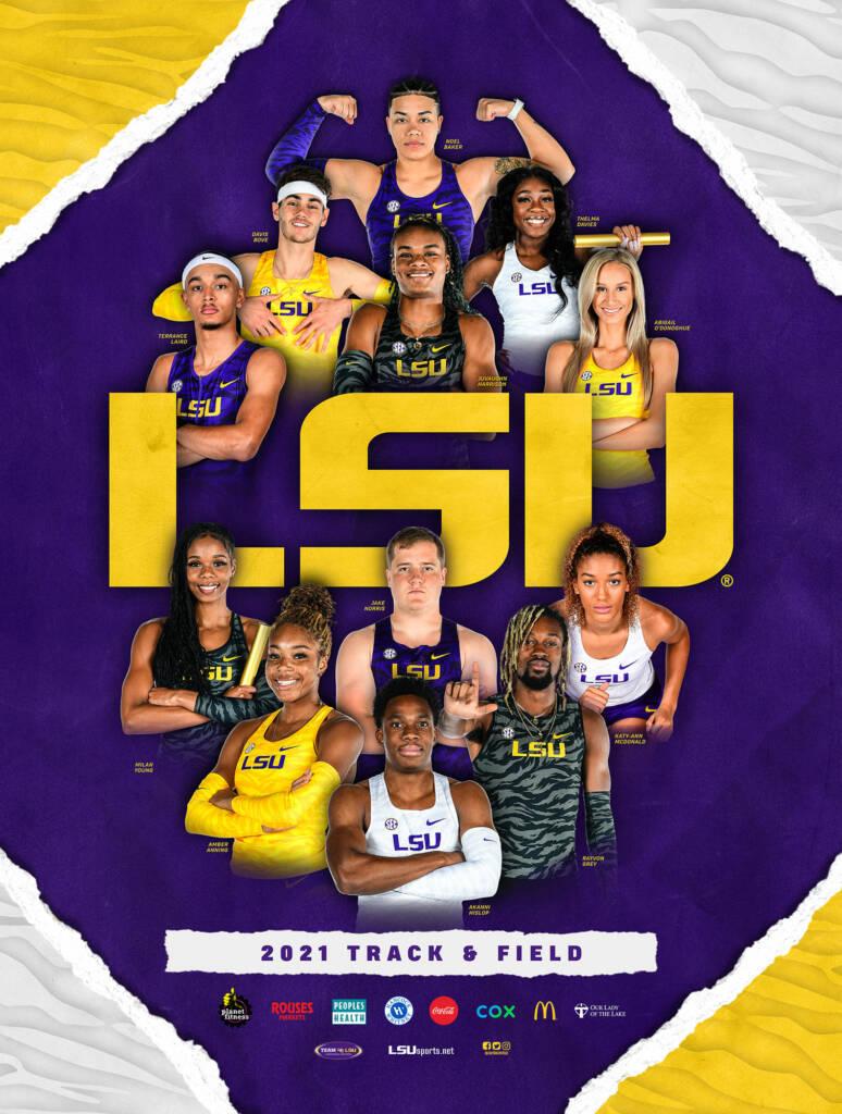 2021 LSU Track & Field Poster